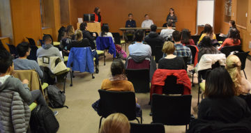participants at a career panel