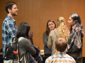 networking at the Careers Beyond Academia Industry career panel
