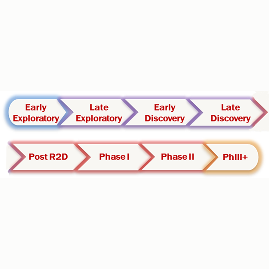 the drug development process from early exploratory to phase 3