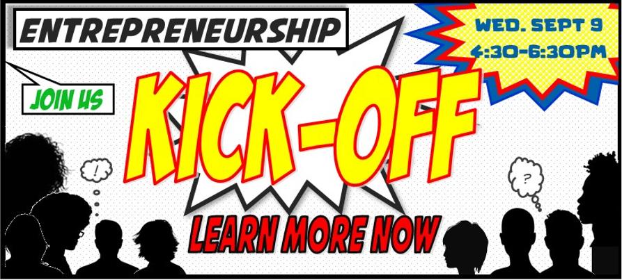 Entrepreneurship Kickoff 2020 online Sept. 9