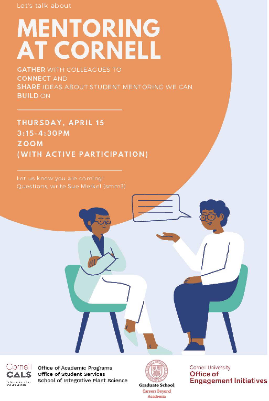 Mentoring at Cornell flyer