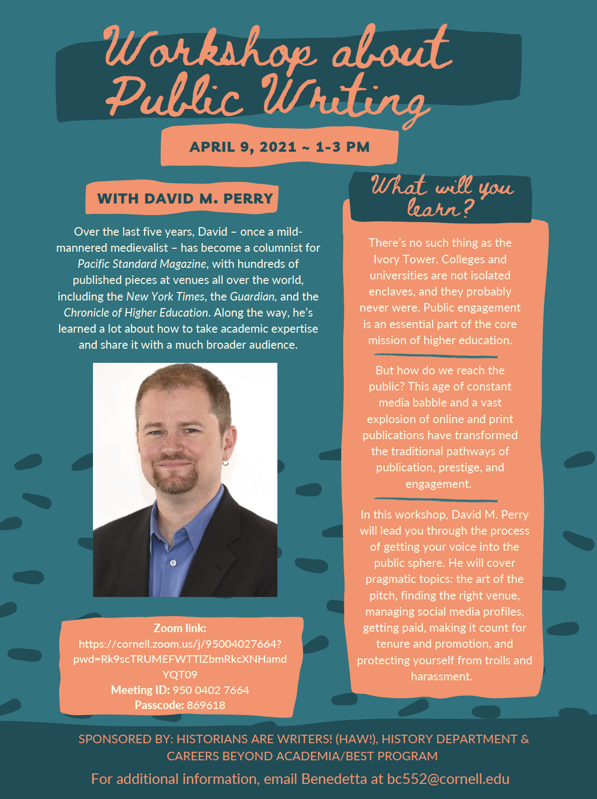 Workshop about Public Writing with David M. Perry